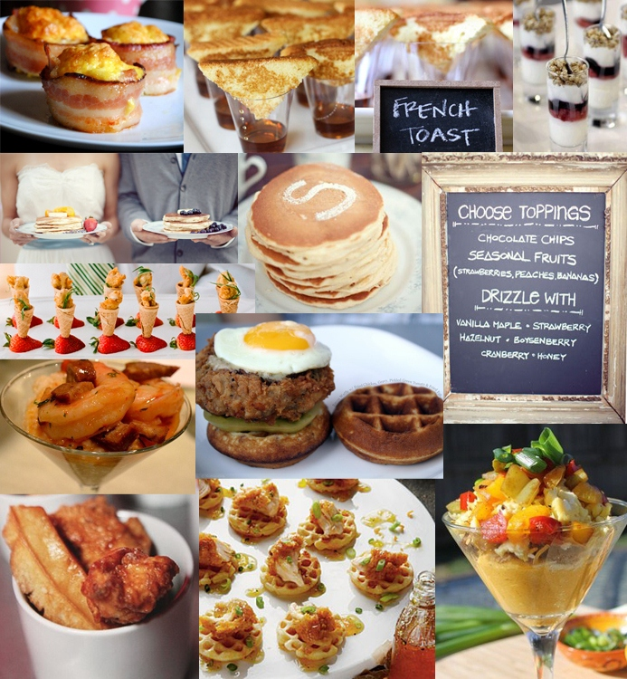Bacon Eggs Cups French Toast Yogurt Parfait From Pinterest Pancake Bar Green Wedding Shoes Chicken And Waffles Southern Weddings Magazine