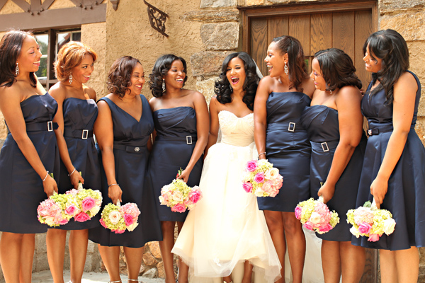 Lovely Rehearsal Dinner Dresses In Shades Of White Ivory: A Navy And Pink Wedding