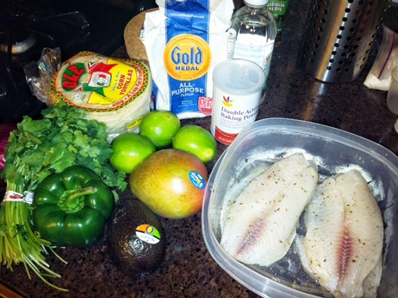 Recipe du jour fish tacos w mango salsa the high life for Taco bell fish tacos