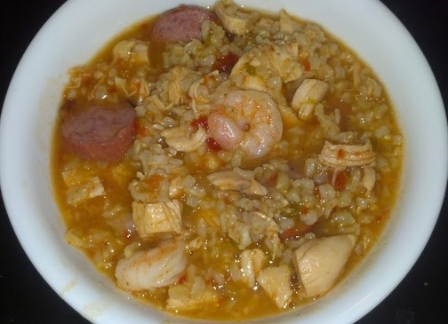 finished jambalaya