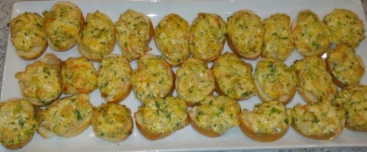 shrimp crostinis