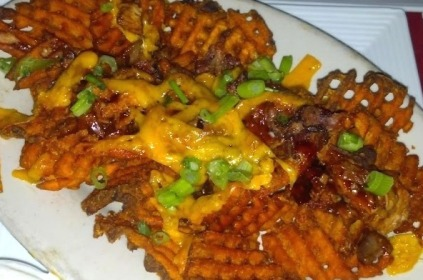 loaded waffle fries