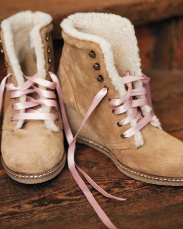 These wedge booties are sooo cute! (Martha Stewart Weddings)